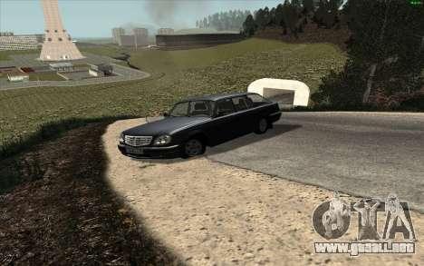 Volga GAZ 31104 para GTA San Andreas vista posterior izquierda