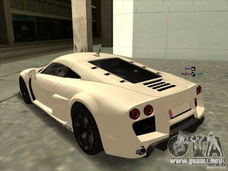 Noble M600 para GTA San Andreas left
