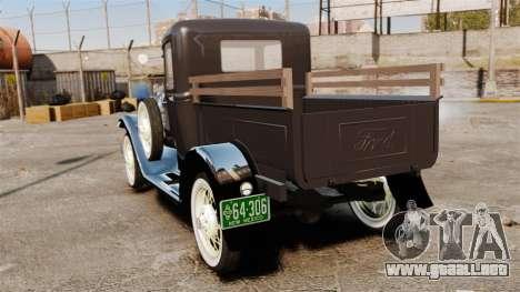 Ford Model T Truck 1927 para GTA 4 Vista posterior izquierda