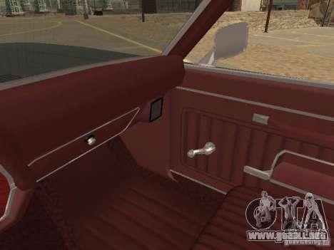 1970 Chevrolet Monte Carlo para vista inferior GTA San Andreas