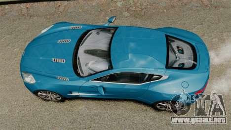 Aston Martin One-77 para GTA 4 visión correcta