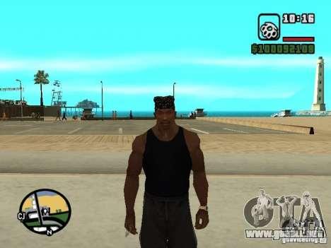 Mike Rammstein para GTA San Andreas sucesivamente de pantalla
