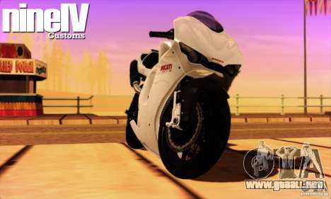 Ducati Desmosedici RR 2012 para GTA San Andreas left