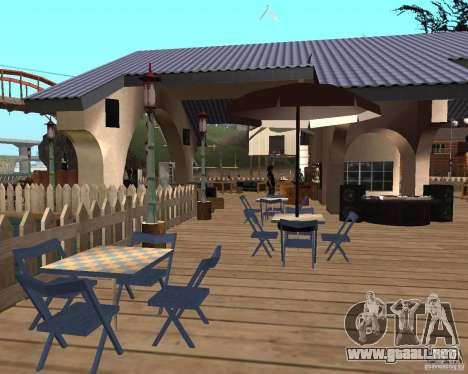 Villa en la Laguna de pesca para GTA San Andreas quinta pantalla
