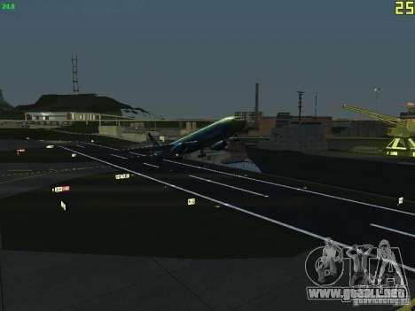Boeing 767-300 AeroSvit Ukrainian Airlines para GTA San Andreas vista hacia atrás