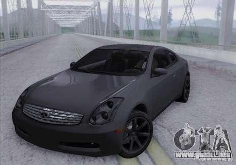 Infiniti G35 para vista lateral GTA San Andreas