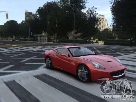 Ferrari California 2009 para GTA 4 vista hacia atrás