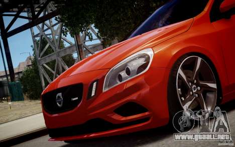 Volvo S60 R-Design 2011 para GTA 4 Vista posterior izquierda