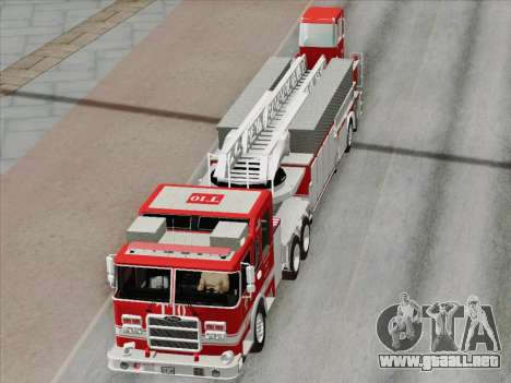 Pierce Arrow XT LAFD Tiller Ladder Truck 10 para el motor de GTA San Andreas