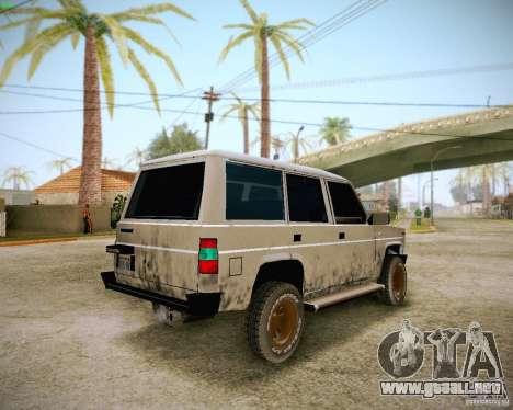 Daihatsu Taft Hiline Long para vista lateral GTA San Andreas