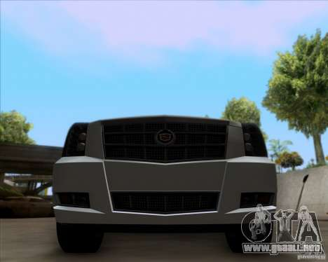 Cadillac Escalade ESV Platinum 2013 para visión interna GTA San Andreas