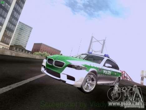 BMW M5 Touring Polizei para GTA San Andreas left