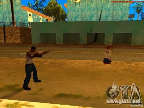 New Animations V1.0 para GTA San Andreas segunda pantalla