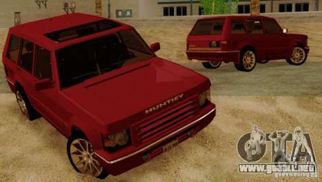 Huntley Freelander para vista lateral GTA San Andreas