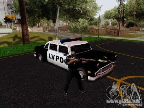 Cabbie Police LV para la visión correcta GTA San Andreas
