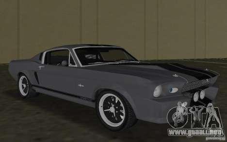 Shelby GT500 Eleanor para GTA Vice City left