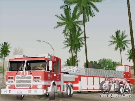 Pierce Arrow XT LAFD Tiller Ladder Truck 10 para GTA San Andreas interior