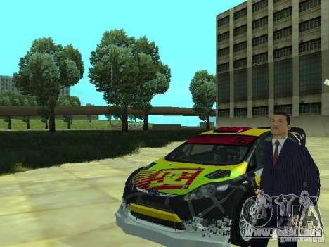 Ford Fiesta H.F.H.V. Ken Block Gymkhana 5 para la visión correcta GTA San Andreas