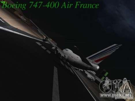 Boeing 747-400 Air France para la visión correcta GTA San Andreas