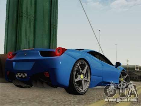 Ferrari 458 Italia 2010 para GTA San Andreas left