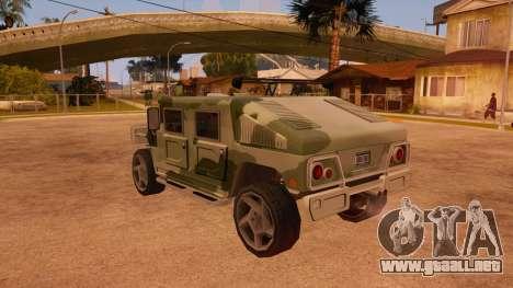 HD Patriot para vista inferior GTA San Andreas