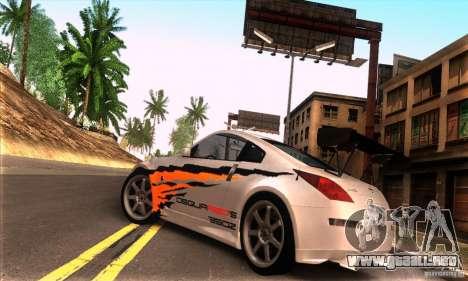 Nissan 350Z Tunable para visión interna GTA San Andreas