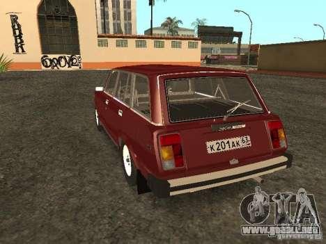 VAZ 2104 v. 2 para GTA San Andreas vista posterior izquierda