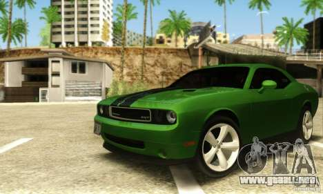 Dodge Challenger SRT-8 para GTA San Andreas left