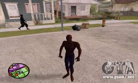 Spider Man and Venom para GTA San Andreas sucesivamente de pantalla