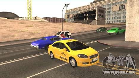 Fiat Linea Taxi para GTA San Andreas