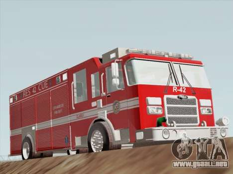 Pierce Contender LAFD Rescue 42 para GTA San Andreas left