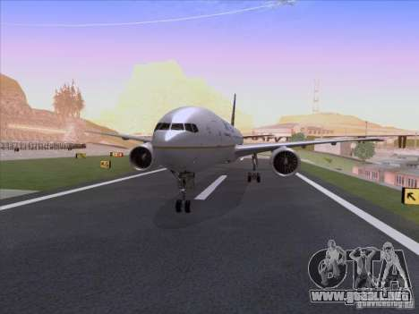 Boeing 777-200 United Airlines para GTA San Andreas left