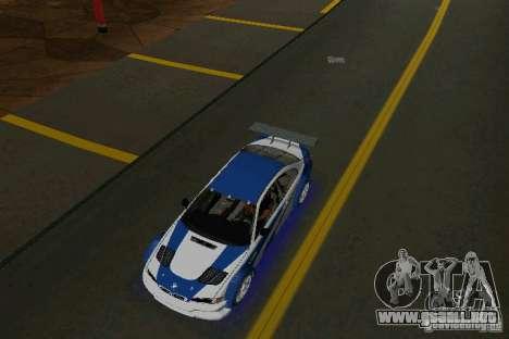 BMW M3 GTR NFSMW para GTA Vice City visión correcta