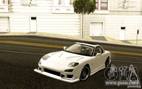Mazda RX-7 C-West para GTA San Andreas left