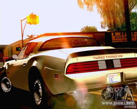 Lensflare Settings para GTA San Andreas tercera pantalla