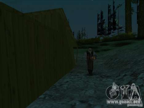 Leatherface para GTA San Andreas segunda pantalla