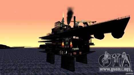 Plataforma petrolífera en Los Santos para GTA San Andreas tercera pantalla