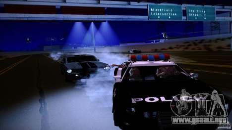 Policía dispara fuera de máquina para GTA San Andreas segunda pantalla