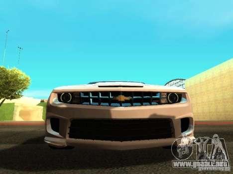 Chevrolet Camaro SS 2010 para visión interna GTA San Andreas