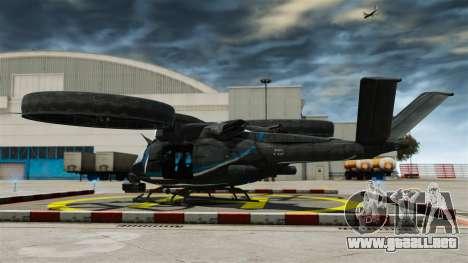 Helicóptero de transporte SA-2 Samson para GTA 4 Vista posterior izquierda