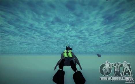 Tanque de buceo para GTA San Andreas quinta pantalla