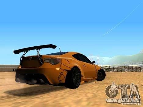 Toyota FT86 Rocket Bunny V2 para la visión correcta GTA San Andreas