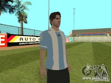 Lionel Messi para GTA San Andreas sucesivamente de pantalla