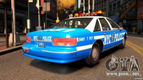 Chevrolet Caprice 1993 NYPD para GTA 4
