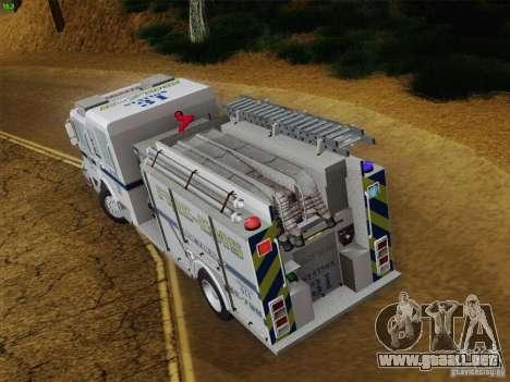 Pierce Pumpers. B.C.F.D. FIRE-EMS para vista inferior GTA San Andreas