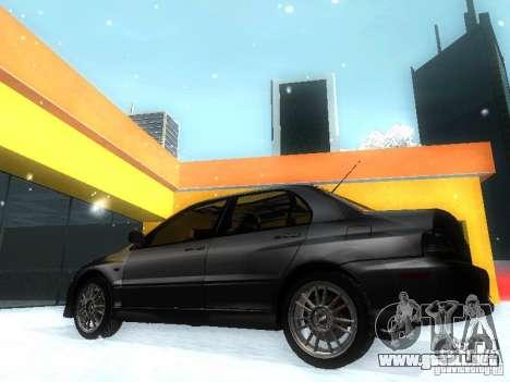 Mitsubishi Lancer Evo IX MR Evolution para GTA San Andreas left