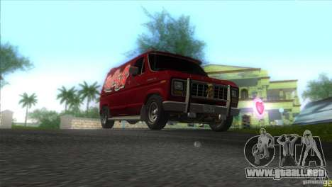 Ford E-150 Gang Burrito para GTA Vice City vista posterior