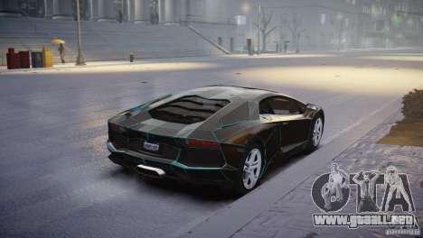 Lamborghini Aventador LP700-4 para GTA 4 Vista posterior izquierda