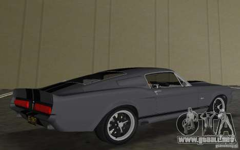 Shelby GT500 Eleanor para GTA Vice City vista posterior