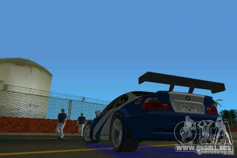 BMW M3 GTR NFSMW para GTA Vice City vista lateral izquierdo